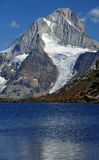 Mountain lake and glacier Stock Photo