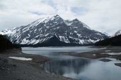 Mountain lake and and glacier Royalty Free Stock Images