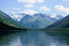 Mountain lake and glaciers Royalty Free Stock Photos