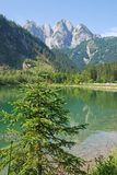 Mountain and lake at Gosau, Austria. In summer Royalty Free Stock Photo