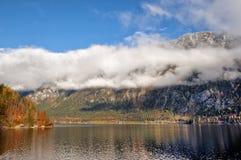 Mountain lake, Hallstatt, Austria stock photo