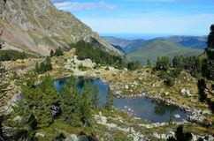 Mountain lake in the Hautes Pyrenees Stock Photography