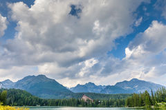 Mountain lake in High Tatra Royalty Free Stock Images