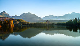 Mountain lake in High Tatra Stock Image