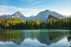 Mountain lake in High Tatra Royalty Free Stock Image