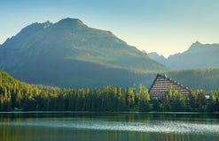 Mountain lake in High Tatra Royalty Free Stock Images