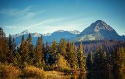 Mountain lake in High Tatra Stock Photos