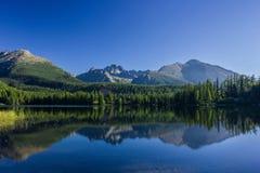 Mountain lake in the High Tatras Royalty Free Stock Photos