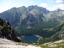 Mountain and Lake High Tatras, Slovakia, Europe Royalty Free Stock Photos