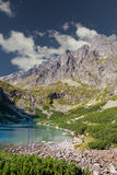 Mountain lake in high tatras summer landscape Stock Photo