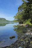 Mountain lake with hot spring water Stock Image