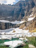 Icebergs in Lake, Glacier National Park Stock Image
