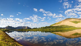 Mountain Lake Idyll Royalty Free Stock Photo