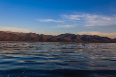 Mountain and lake ,  inle lake in Myanmar (Burmar) Stock Images