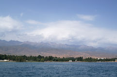 Mountain Lake Issyk-Kul. Situaded 1500 meters above sea level Royalty Free Stock Images