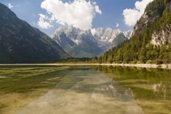 Mountain lake in italian alps Royalty Free Stock Photo