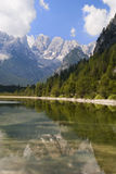 Mountain lake in Italian Alps Stock Photos