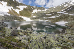 Mountain lake in the Italian alps Royalty Free Stock Photography
