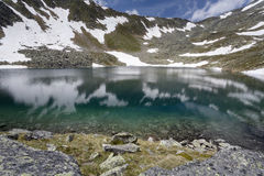 Mountain lake in the Italian alps Royalty Free Stock Image