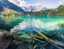 Mountain lake in the Italian Alps Royalty Free Stock Photos