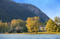 Mountain lake, Italy Royalty Free Stock Image