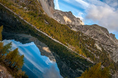 Mountain lake in Italy Royalty Free Stock Photos