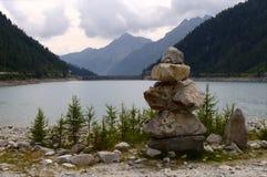 Mountain lake. A lake in Italy, mountain royalty free stock photos