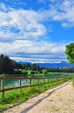 Mountain lake in Italy Royalty Free Stock Photography