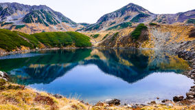 Mountain and lake in Japan Alpine route Stock Image