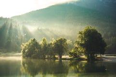 Free Mountain Lake Jasna In Krajsnka Gora, Slovenia. Triglav National Park, Julian Alps. Travel Slovenia. Stock Photos - 215046863