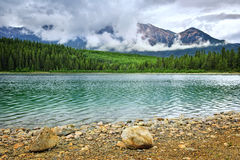 Mountain lake in Jasper National Park Royalty Free Stock Image
