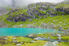 Mountain lake in Jostedalsbreen National Park Norway Stock Images