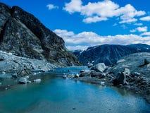 Mountain lake in Jotunheimen stock photo