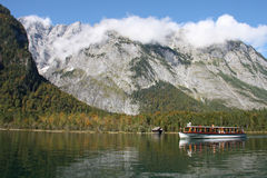 Mountain Lake Königsee, Bavaria. Royalty Free Stock Photo