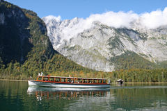 Mountain Lake Königsee, Bavaria. Stock Image