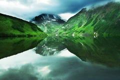 Mountain lake on Kamchatka Royalty Free Stock Image