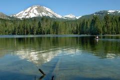 Mountain Lake with a Kayak Stock Photos