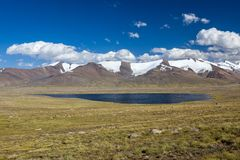 Mountain lake. Kirgizstan Stock Image