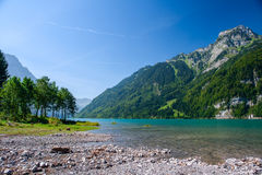 Mountain lake at Kloental Stock Photography