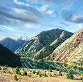 Mountain lake Kolsai in Kazakhstan Stock Photos