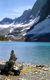 Mountain Lake, Kootenay National Park, Canada. Floe Lake, Kootenay National Park, British Columbia, Canada. See for trail reference stock photo