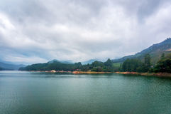 Mountain lake Kundale with overcast sky Royalty Free Stock Photos