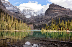 Mountain lake, Lake Ohara Stock Photography