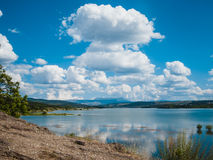 Mountain lake landscape. Beautiful mountain landscape. Crimea, Simferopol Stock Photo