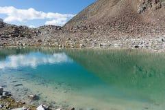 Mountain lake landscape in Europe Tyrol Alps travel stock photos