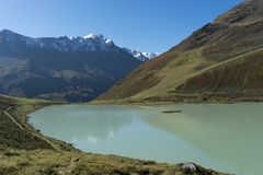 Mountain lake landscape in Europe Tyrol Alps travel royalty free stock images