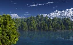 Mountain lake landscape Stock Image