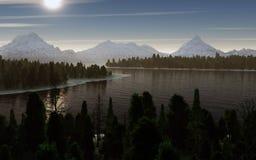 Mountain lake landscape Royalty Free Stock Photography