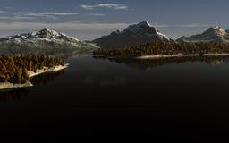 Mountain lake landscape Stock Photography