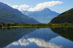 Mountain lake landscape in Italy Stock Image